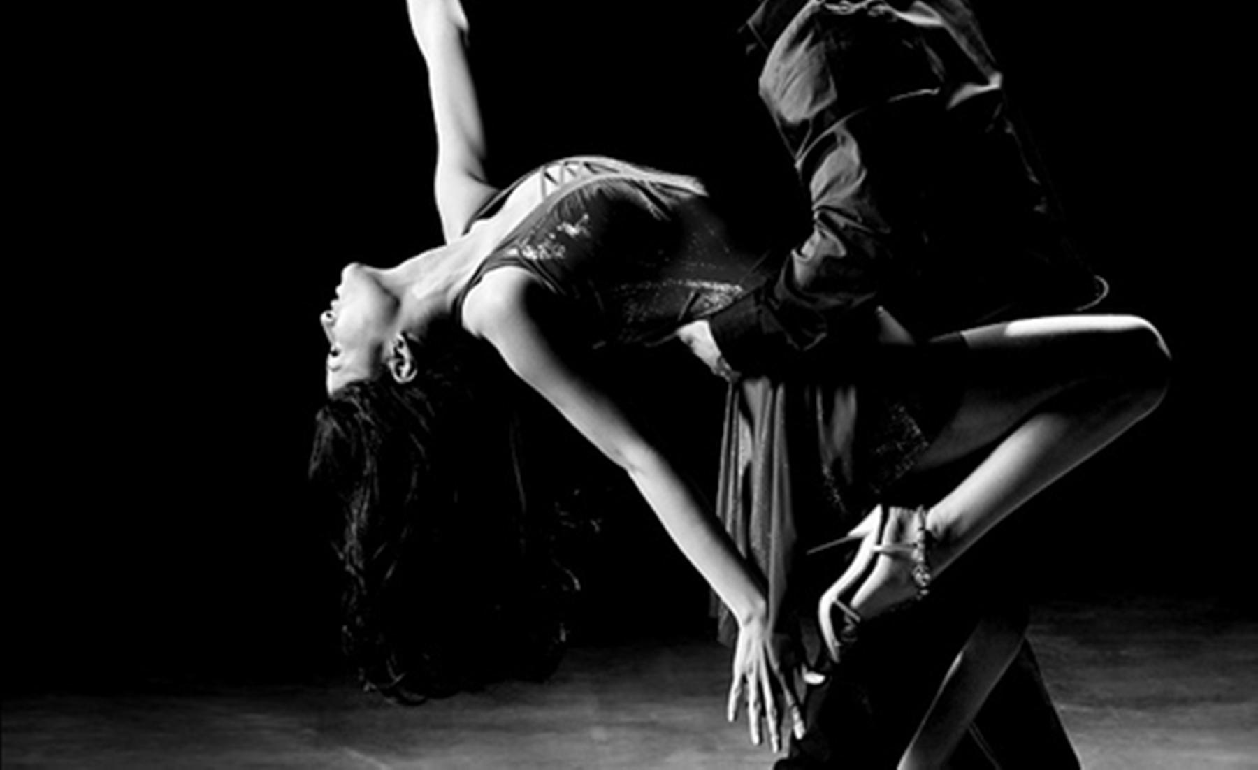 Sexy ballroom dancer
